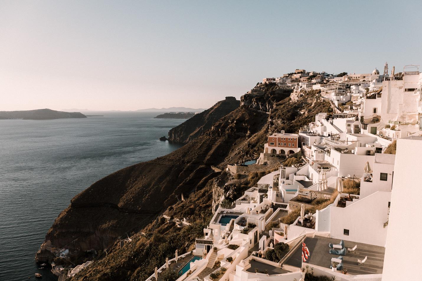 Fira Santorini caldera view