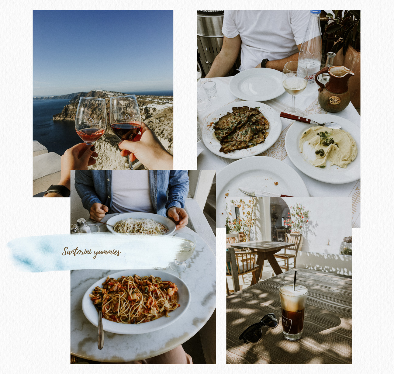 Santorini food and drinks