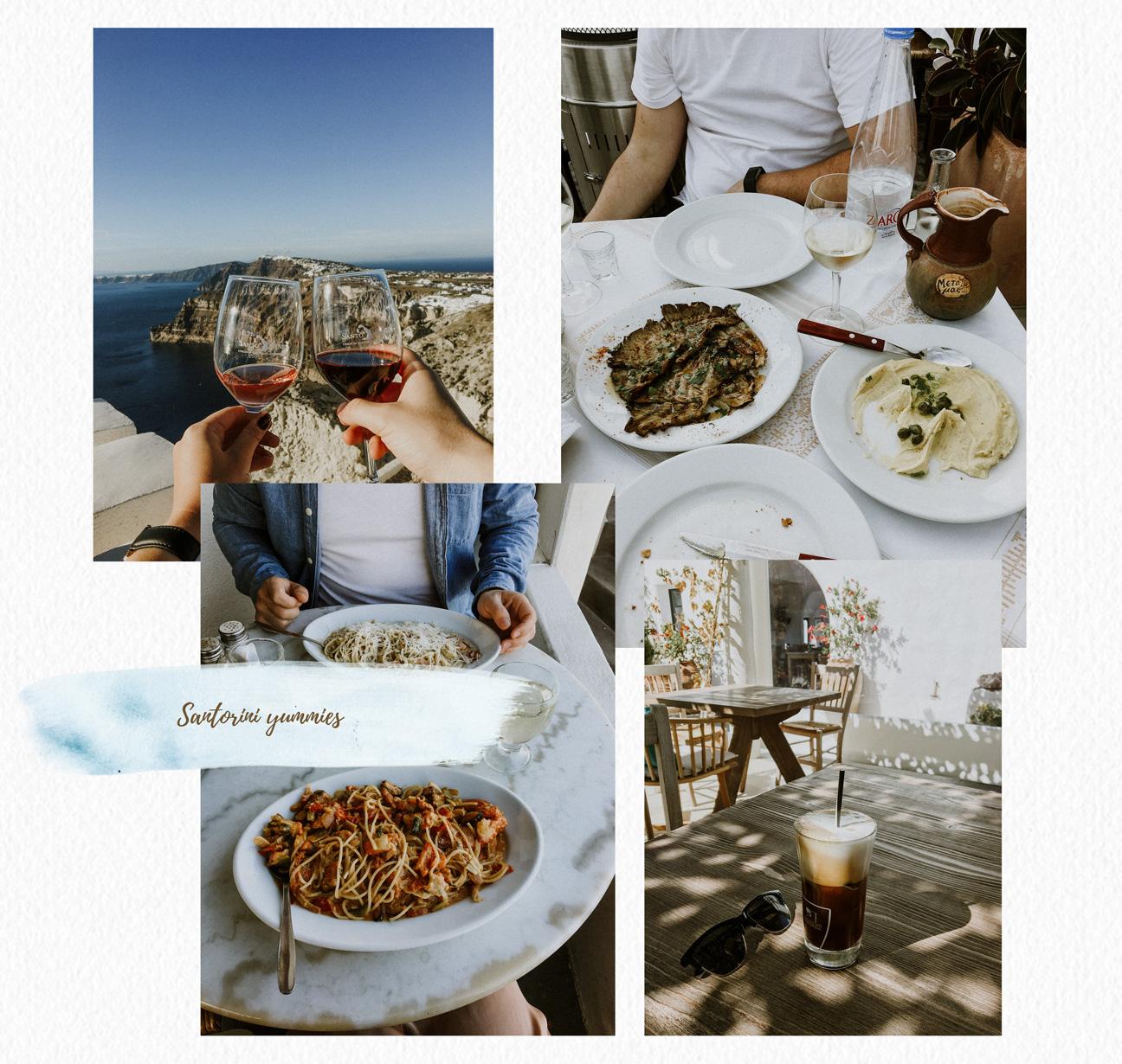 Santorini food and drinks